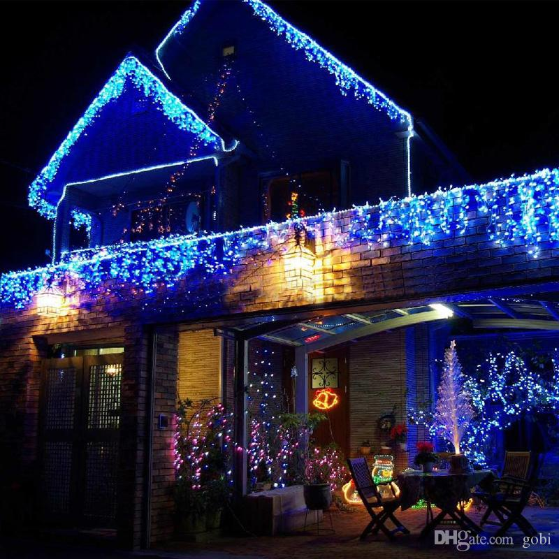 2pcs 10m05m 320 led curtain icicle light party wedding xmas background decoration 8 colors mixed lot free drop shipping - White Christmas Lights Cheap