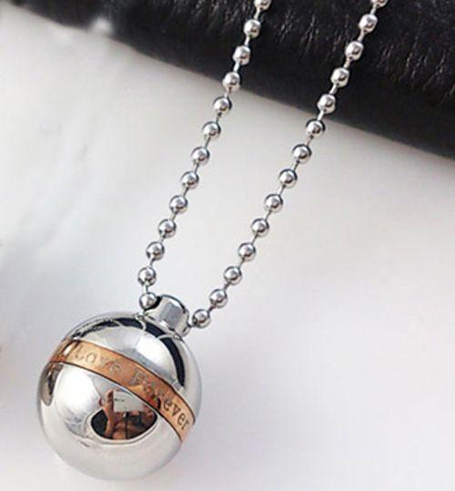 Hohe qualität Liebe für immer 316L Edelstahl Feuerbestattung Memorial Asche Urnen Kugel Form Medaillons Anhänger Halsketten Urnen Schmuck N1