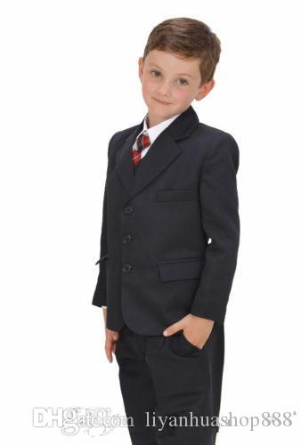 2015 nuevas colecciones Boys 'Formal Occasion Custom High Quality 5 Piezas Little Gentlemen Must Have Suxedos Boys' Formal Occasion Wearings