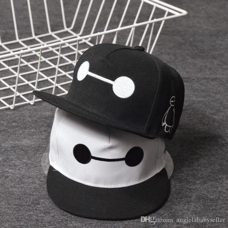 307820b4a07 Wholesale Big Hero 6 SIX Baymax Baseball Caps Adult Snapback Hats Caps Hip  Hop Style Embroidery Cotton Cap Baby Boys Girls Peaked Cap Neweracap Cap Hat  From ...