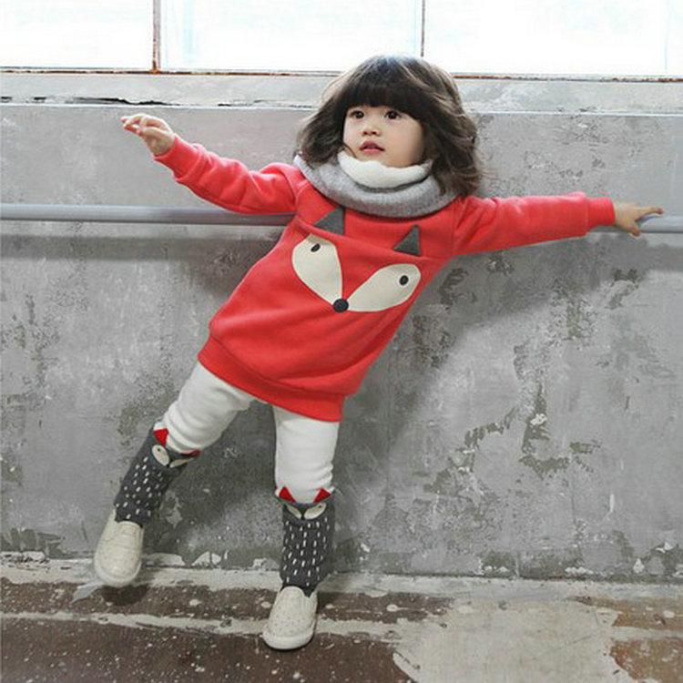 2018 Baby Girl Fox Set 2016 Spring Autumn Cotton Cartoon Red Long Sleeve Shirt+White/Gray Pants Outwear Kids Girl Outfit Set From Melee $54.28 | Dhgate.Com  sc 1 st  DHgate.com & 2018 Baby Girl Fox Set 2016 Spring Autumn Cotton Cartoon Red Long ...