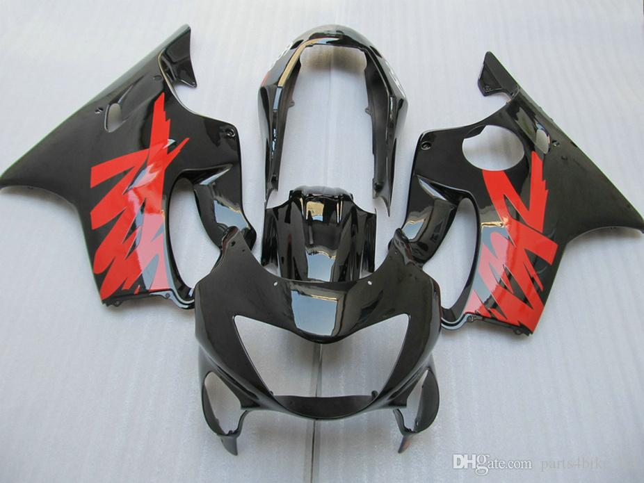ABS Fitment Body parts for Honda CBR 600 F4 custom fairings 1999 2000 CBR600 F4 99 00 glossy black red fairing kit VPSU