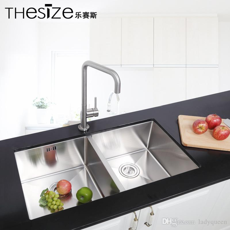 Best Quality Long Term Direct Supply Custom Stainless Steel Double Sink  Stainless Steel Sink By Hand Stretch At Cheap Price, Online Kitchen Sinks |  Dhgate.