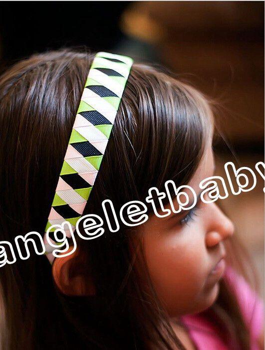 Haarband Kopf-Haar-Band-Band-Dame-Women Weit Woven Grid Lattice Stirnband koreanische Mädchen-Accessoires Kopfschmuck Kopfbedeckung Haar haftet FJ3106