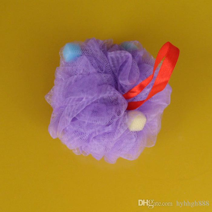 10 قطعة / الوحدة حمام الجسم يعمل التقشير دش حمام الاسفنج أربعة ألوان الوردي والأصفر والأزرق والأرجواني اللوف شبكة الشاش