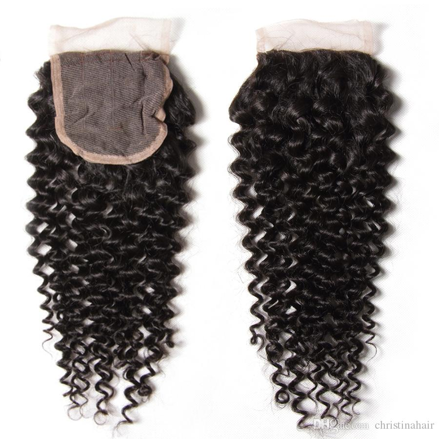Brazilian Curly Wave Hair With Closure Virgin Hair 3 Bundles With Ear To Ear Lace Closure and Bundles Kinky Curly Human Hair Weave
