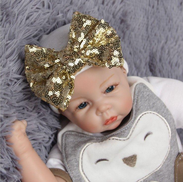 Boné de bebê recém-nascido de natal 0-3 meses bebês chapéus de malha meninos meninas criança crochet gorro chapéu do bebê com lantejoulas arco chapéu xmax