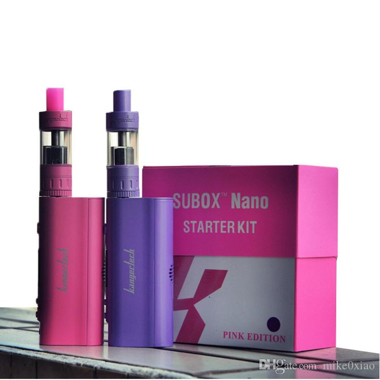 Kanger Nebox Starter Kit 100% original Kanger subox nano Nebox cigarrillo electrónico 50w Kangertech Nebox TC VW Kit Capacity vs subox mini nano kit