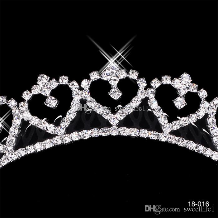 Popular Alloy Shining Rhinestones Crown Wedding Bride Tiaras Crystal Crowns For Bride Silver Plated Wedding Party In Stock 2015 Cheap 18016