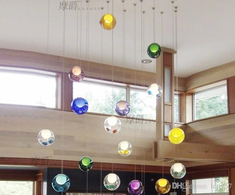 Creative Stained Glass Ball Balls Bubble Clusters Double Chandelier In The Dining Room Lights Postage