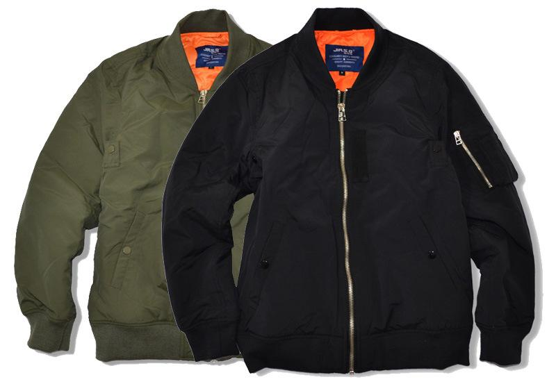 Winter Vintage Bomber Jackets Thick Warm Short Flight Suits Mens ...