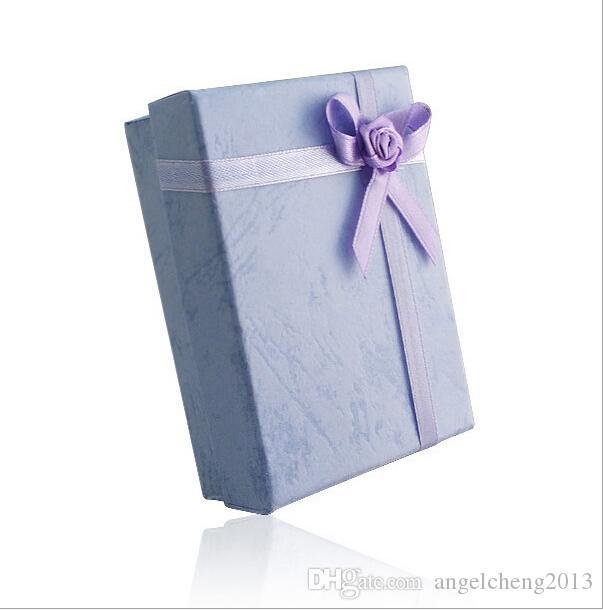 5 * 8 * 2.5cm 5 색 패션 디스플레이 포장 선물 상자 보석 상자, 펜던트 상자, 귀걸이 상자 임의의 색상 /