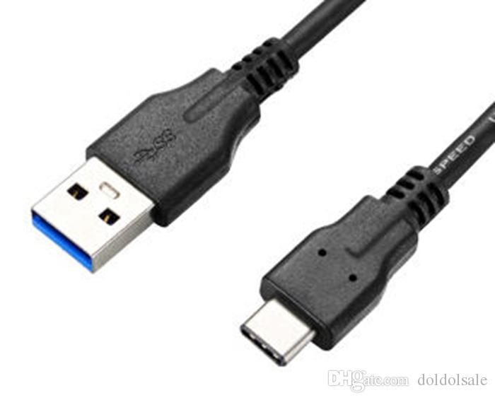 Cavo USB Type C da 100 pezzi MacBook OnePlus 2 3 Cavo di ricarica tipo-c ZUK Z1 2 Cavo USB di tipo c veloce Carica letv