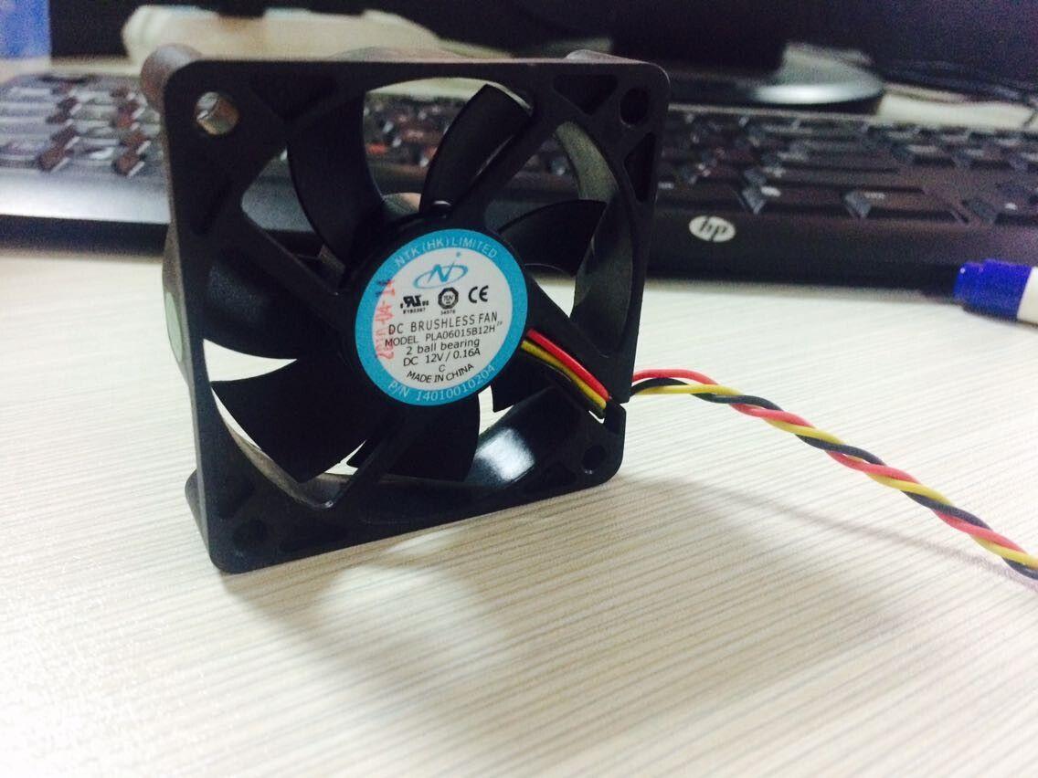 Darmowa wysyłka Tajwan wentylator logika PLA06015B12H 6015 60mm 6 cm DC 12V 0,16A zasilania wentylator wentylator