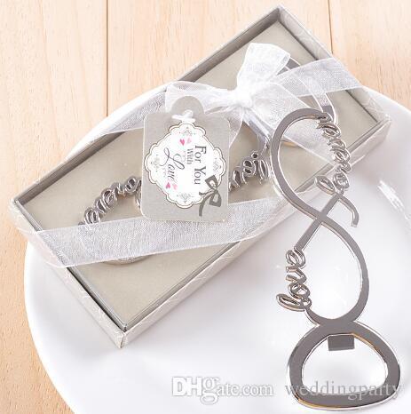 Für immer Liebe Chrome Bier Flaschenöffner Hochzeit Gefälligkeiten und Geschenke Opener für Gäste Partei Lieferant Bridal Shower