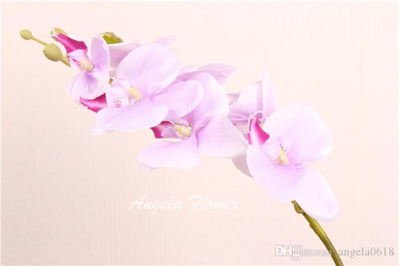Hot Sale 78cm Artificial like butterfly silk flower Phalaenopsis 7 heads 78cm for wedding home vase party decoration