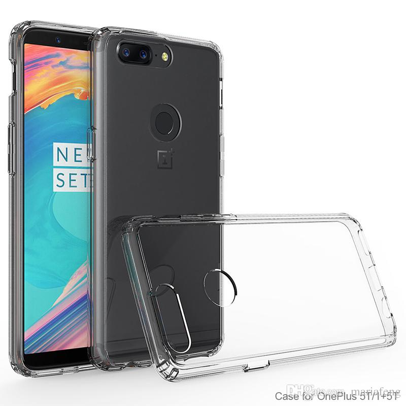 new arrival For one plus 5T huawei mate 10 pro lite clear Transparent Bumper soft TPU hard PC Acrylic Back Cover Case