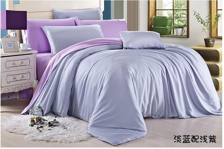 Exceptional Luxury Light Blue Purple Lilac Bedding Set Queen Duvet Cover King Size  Double Bed In A Bag Sheets Linen Quilt Doona Tencel Western Bedding Gift Bed  Spread ...
