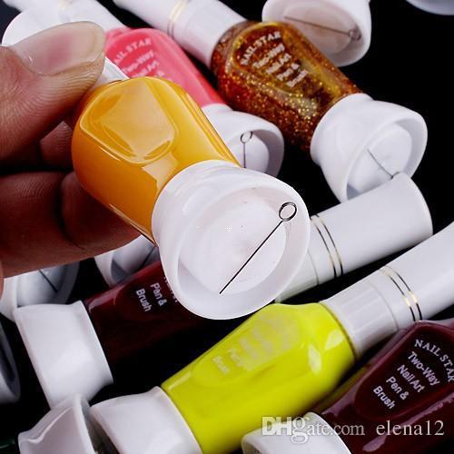 i nail art nail art smalto nero Nail supplies i nail polish oil brush dual featured i nail polish kit 210013