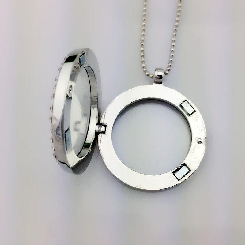 Collana pendente in argento 316L con ciondolo medaglione pendente 30mm in argento con ceco