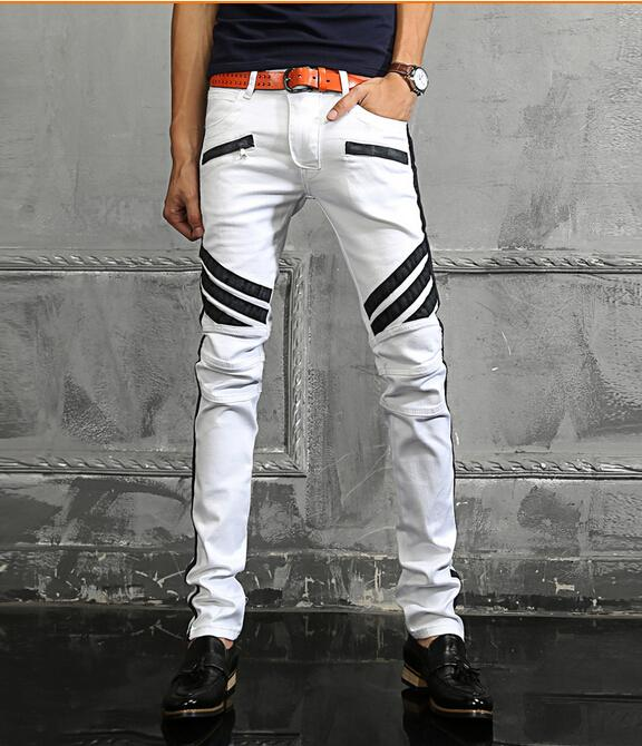 2017 New Jeans Men Brand Milan Catwalk Shows Stretch Patchwork ...