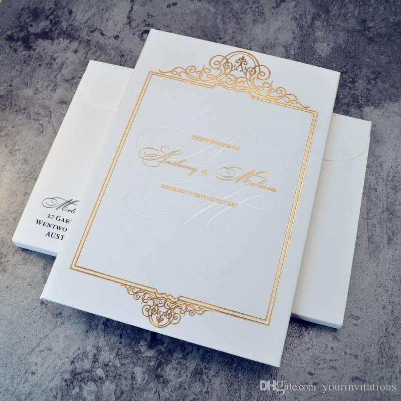 - European style elegant wedding cards, texture paper with thick paper carboard, quality wedding invitations with hot price