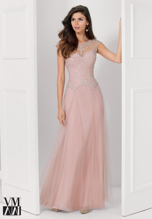 Compre Elegante Vestido De Color Rosa Para La Madre De Novia Organza ...