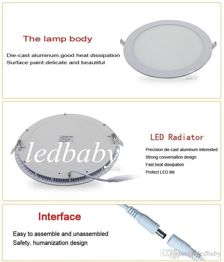 Новое прибытие 12 дюймов 30 Вт светодиодные встраиваемые светильники 160 угол CRI85 теплый / Natrual / холодный белый LED Кухня Ванная комната лампы AC85-265V + драйверы питания