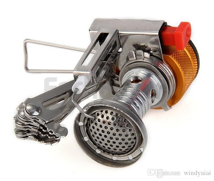 Stufa Ignitor antincendio elettronico in acciaio inox campeggio Picnic Cookout Burner Stufa a gas portatile da campeggio esterna