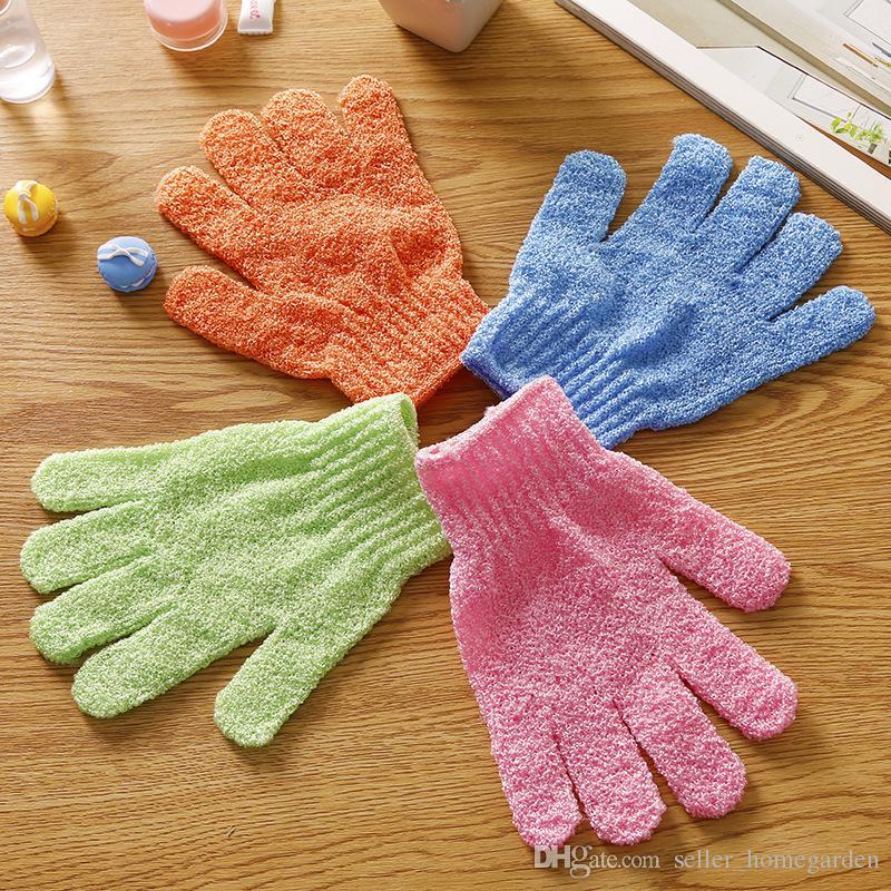Exfoliating Bath Glove Five fingers Bath bathroom accessories nylon bath gloves Bathing supplies products 17110603