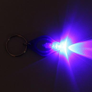 F5 LED 전구 엄지 손가락 LED 다채로운 빛 열쇠 고리 22000 mcd LED 손전등 키 체인을 변경하는 레인 보우 색상