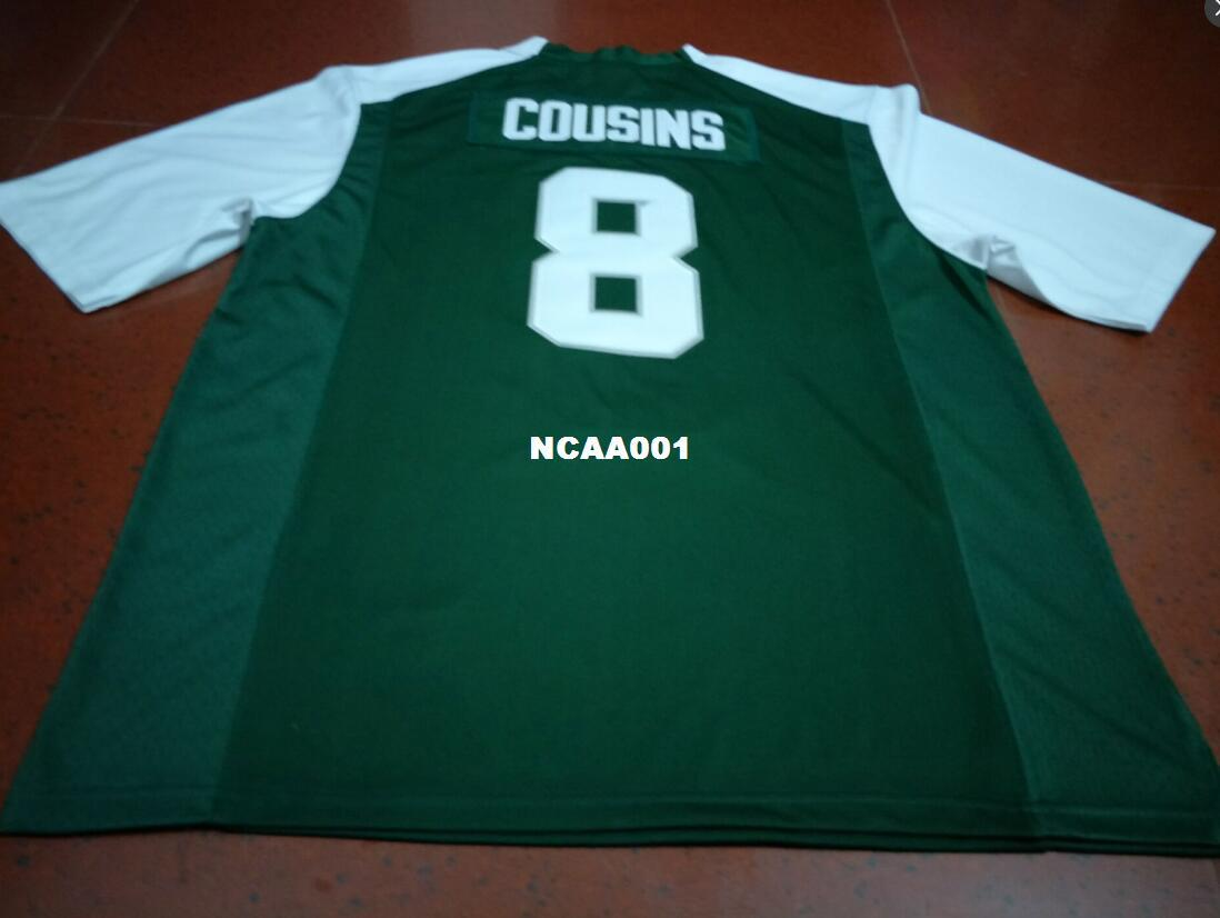 ... czech men michigan state green and white 8 kirk cousins college jersey  size s 4xl or 8ad75eae8