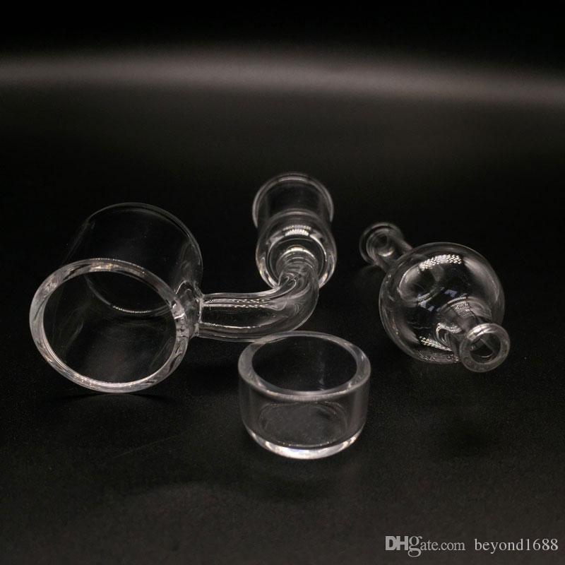 2 milímetros XL banger quartzo topo plano com inserção removível e tampa do carburador 10 milímetros 14 milímetros 18 milímetros de vidro Masculino Feminino Quartz Nails para vidro Bongs