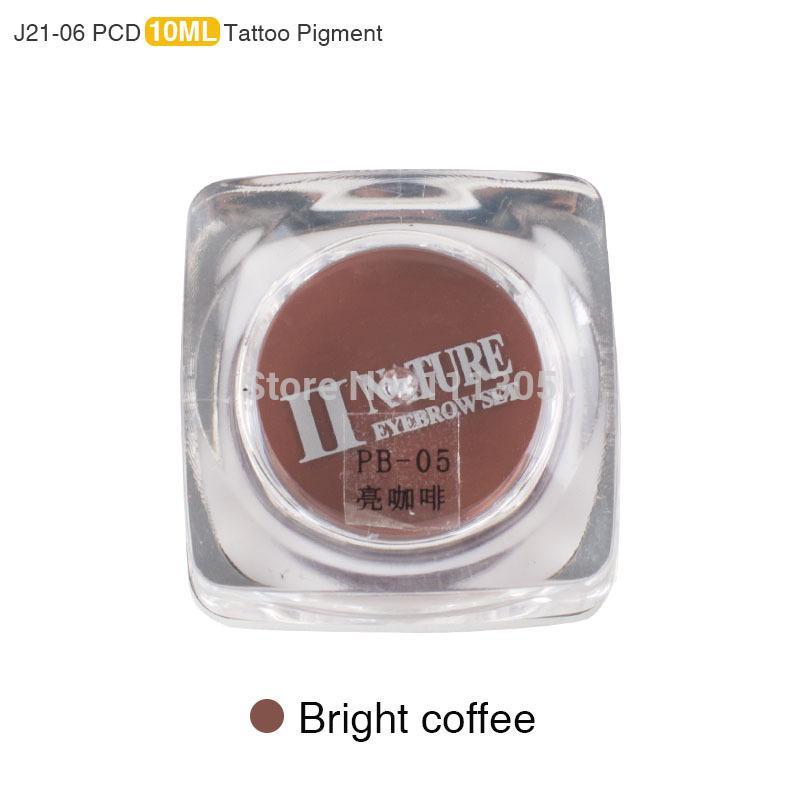 11 Kleuren J21 Vierkante Flessen PCD Tattoo Inkt Pigment Professionele Permanente Make-up Inkt Supply Set voor Tattoo Wenkbrauw Lip Make-up