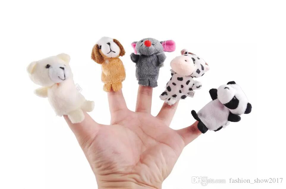 Animal Finger Puppet Baby Kids Plush Toys Cartoon Child Baby Favor Puppets For Bedtime Stories Kids Christmas Gift