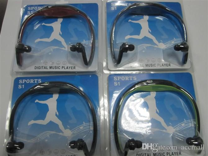 FM Headphone Running Sports MP3 Digital Music Player Wireless Headset Earphone with Micro SD TF Card Slot with Retail Package Box