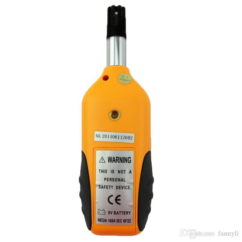 Luftfeuchtigkeit -20 ~ + 80 Digitales Hygrometer-Thermometer LCD-Display Hintergrundbeleuchtung Professionelles Temperatur-Luftfeuchtigkeits-Messgerät Messgerät Tragbares Psychrometer
