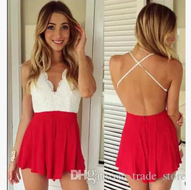 233e850d7cd 2019 Fashion Summer Short Jumpsuits Rompers Women Sexy Backless V Neck  Shorts Pants Beach Dress Jumpsuit Casual Club Party Playsuit B72 From  Trade store