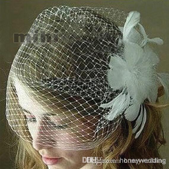 Bridal Blusher Bubble Veil 2 طبقة، حجاب الزفاف منتفخ، حجاب قفص العصافير الزفاف، أحمر الخدود Veil DH7482