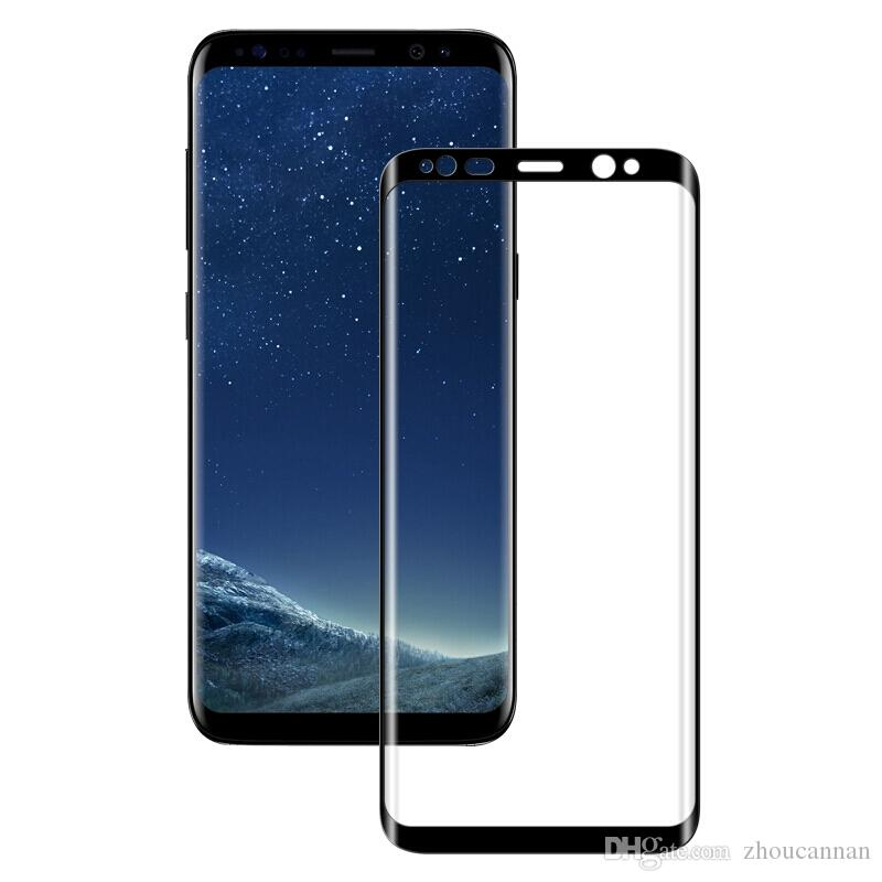 pretty nice 66c88 54d40 3D Curved Full Cover Tempered Glass for Samsung Galaxy s8 s8 Plus Screen  Protector Flim for Galaxy s7 s8 Plus Black