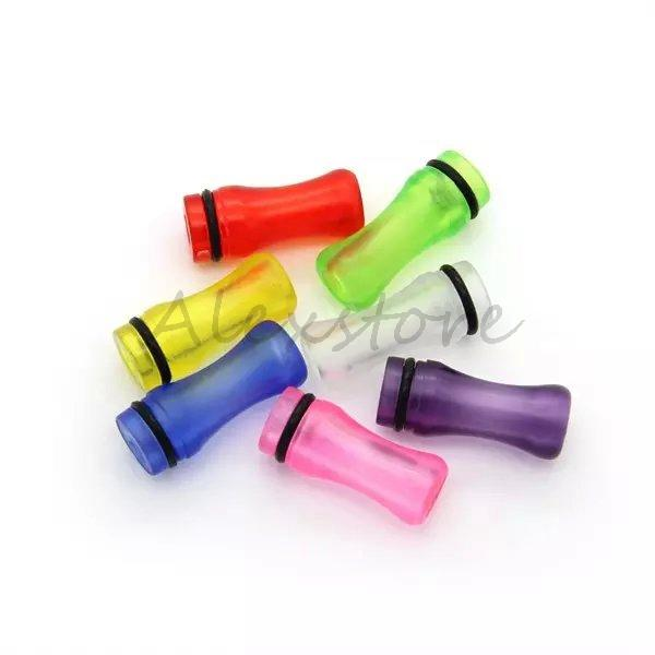 6 Styles plastic drip tips 510 Ego thread drip tip colorful mouthpiece flat drip trip transparent driptip for ce4 ce5 e cigarettes vape
