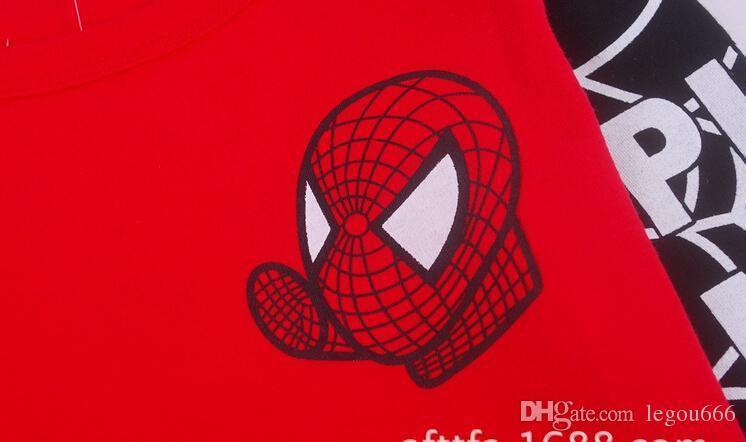 T-shirt a maniche corte T-shirt da uomo T-shirt a maniche lunghe in stile casual Spiderman bambini