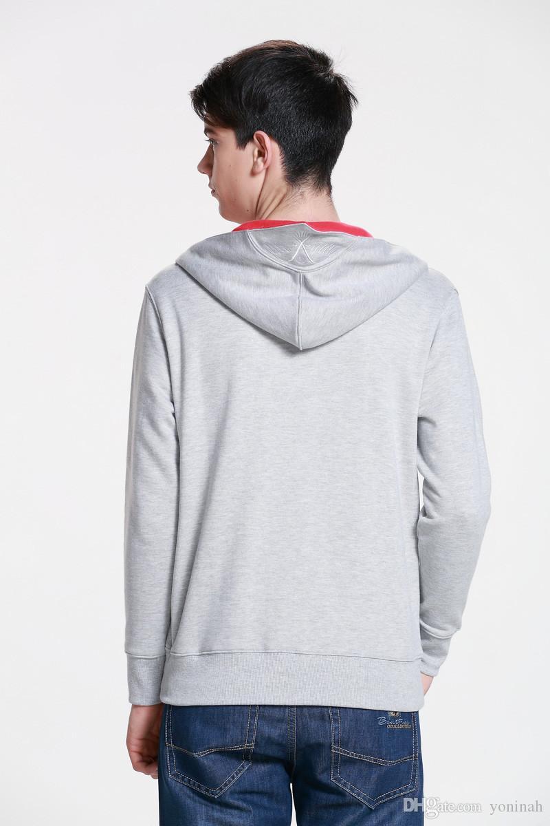 Wholesale-New Assassins creed Conner Kenway Hoodie Coat Jacket Mens cosplay assasins Creed costume Clothing overcoat sport suit sweatshirt
