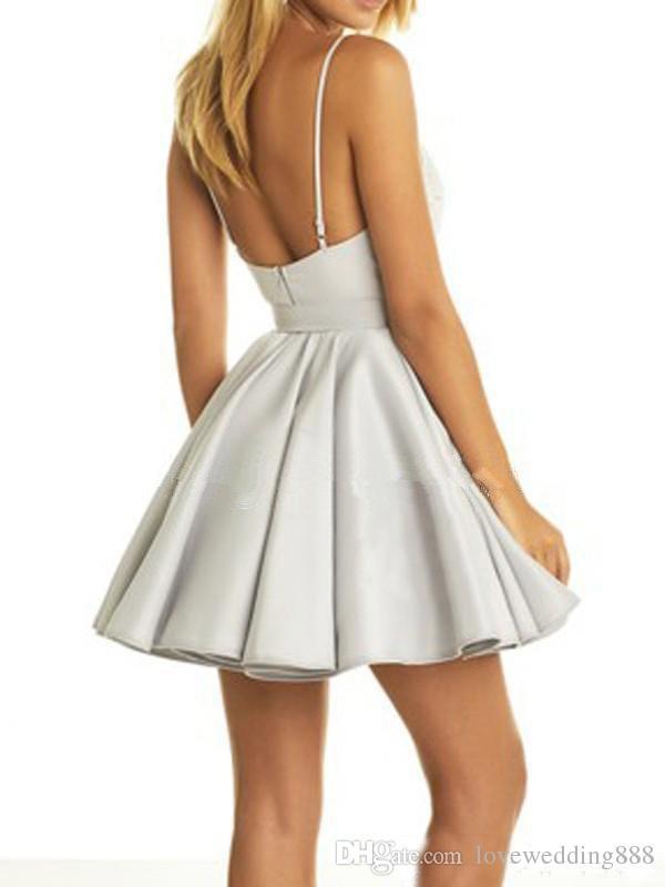 Kurze homecoming kleider 2019 a linie v ausschnitt applique cocktail party dress kurze romkleid mini rock