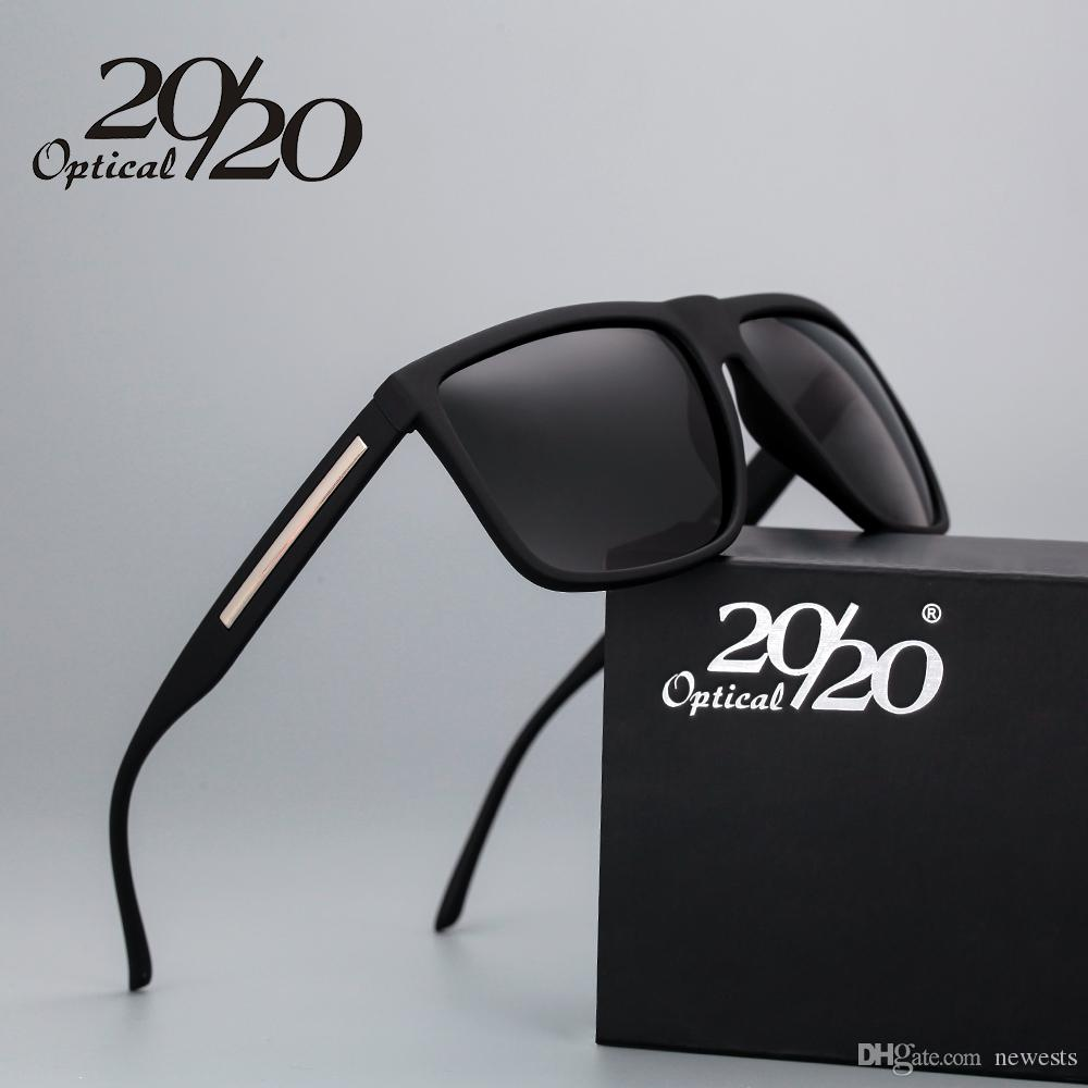 5378c30c50a 20 20 Brand Fashion Black Sunglasses Men Polarized Driving Sun ...
