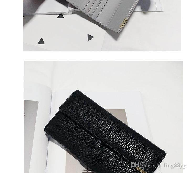 2017 Wholesale leather wallet women coin wallet fashion leather credit card holder