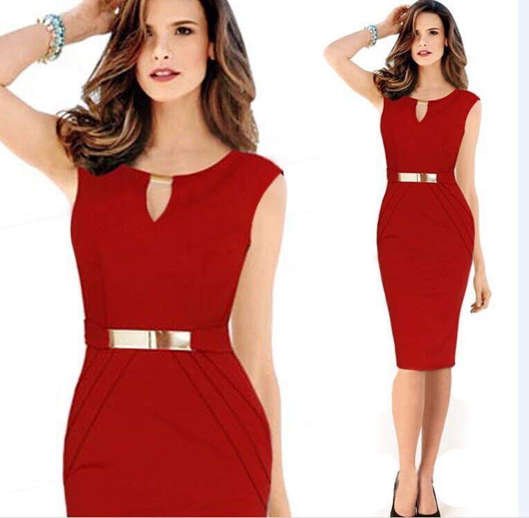 ملابس نسائية السيدات المجهزة سليم مثير أحمر أسود البراقة bodycon قلم رصاص اللباس الرسمي الحفلة الراقصة الكرة مساء حزب اللباس 903
