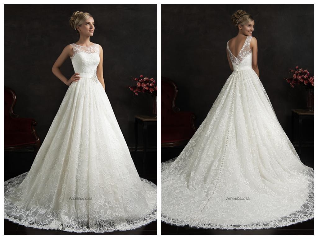 Wholesale Wedding Gowns In Usa: Discount 2016 Amelia Sposa Maritza Wedding Dresses A Line