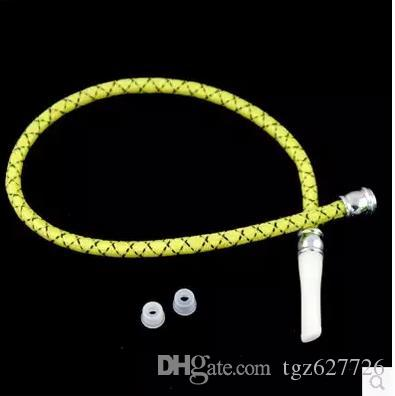 Factory direct colorful silicone straw, glass hookah accessories, large better