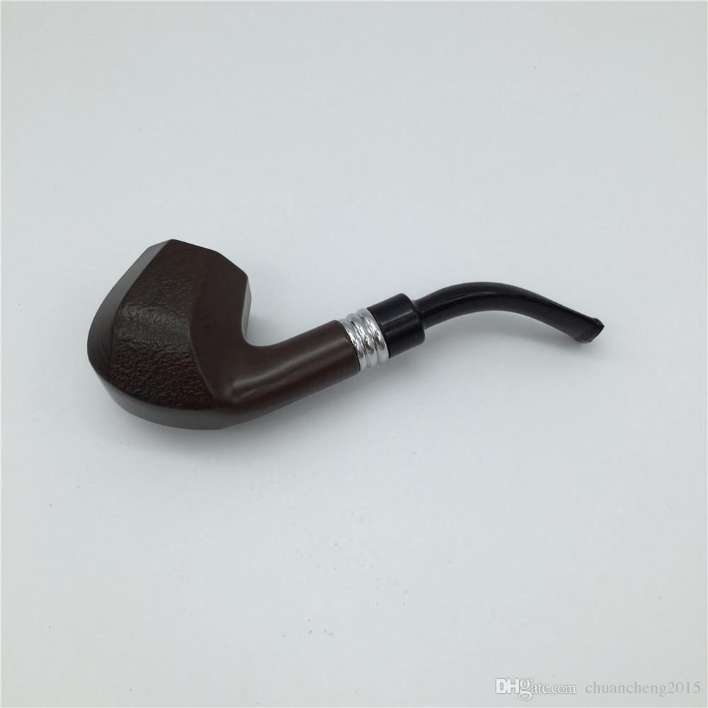 1 UNID Pipa de fumar de madera de alta calidad solo para suministrar el tubo de tabaco de ébano de alta gama para hombres tipo Ben EKJ 5515
